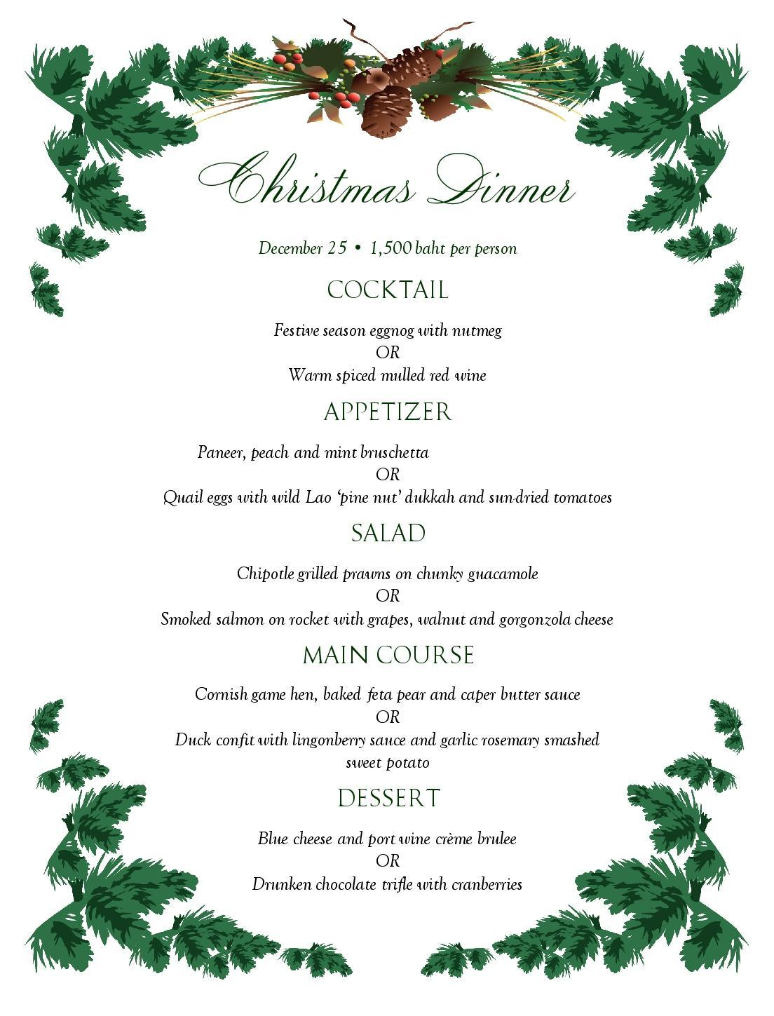 High Quality Our Special Christmas Set Menu Is Out!  Christmas Menu Word Template
